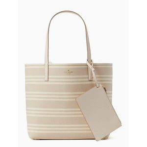 Kate Spade Arch Place Mya Fabric Stripe Tote NWT